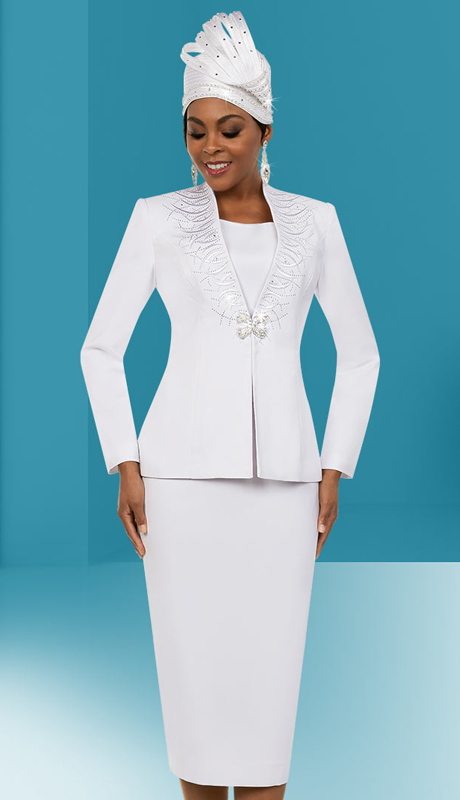 Fifth Sunday 52866-W ( 2pc Embellished Womens Skirt Suit For Sunday )