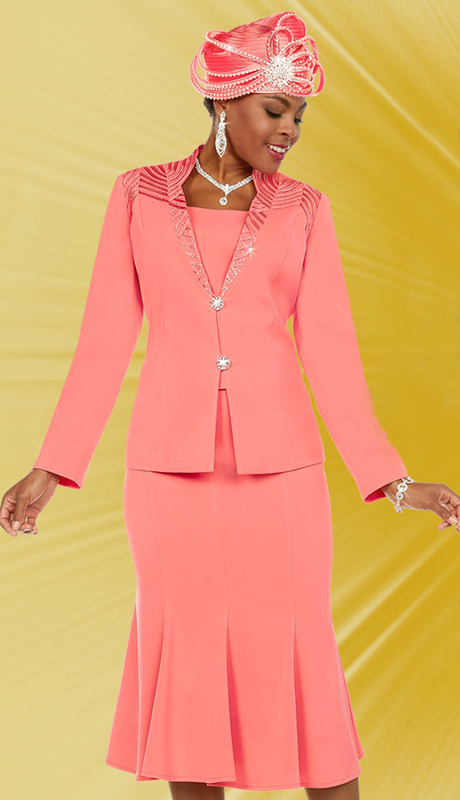 Fifth Sunday 52865 ( 2pc Embellished Pleated Skirt Suit For Church )