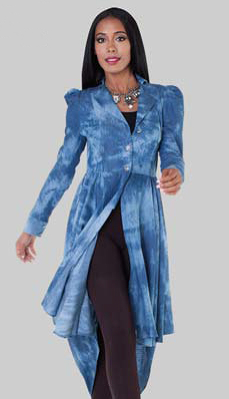 For Her Collection 8591-WB ( 1pc Long Jacket )