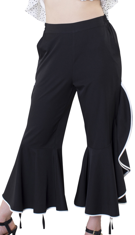 For Her Collection 8589-BW ( 1pc Ruffle Pant )