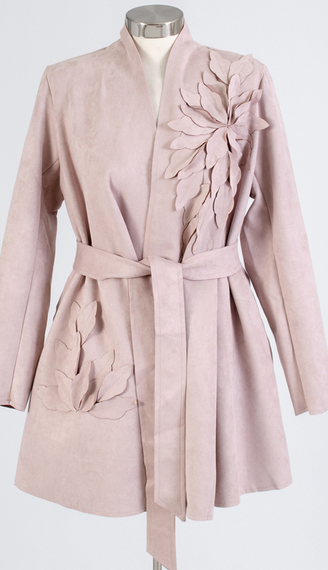 For Her Collection 8792-BL ( 1pc Faux Suede Petal Jacket )