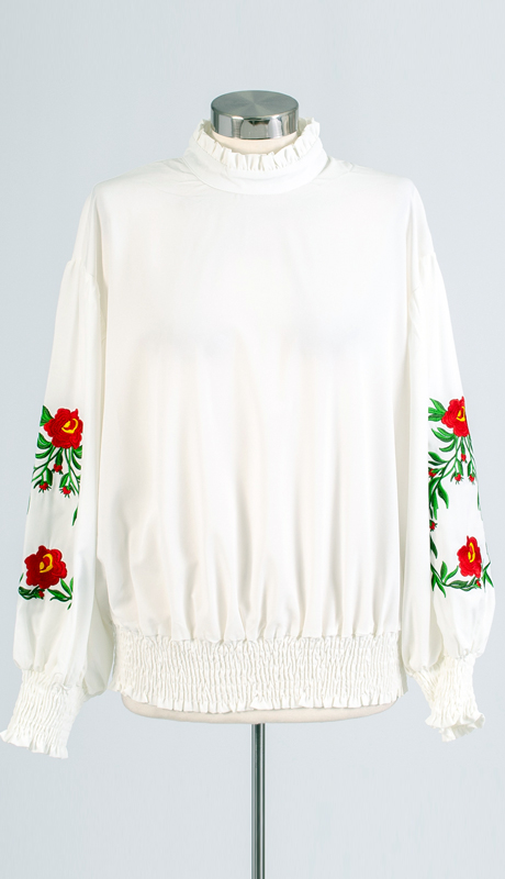 For Her Collection 8782-IV ( 1pc Flower Applique Long Sleeve Top )