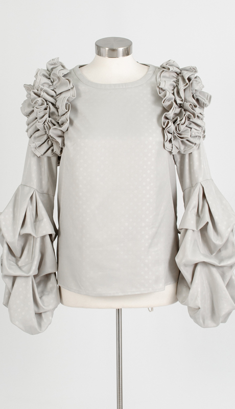 For Her Collection 8767 ( 1pc Puff Sleeve Ruffle Top )