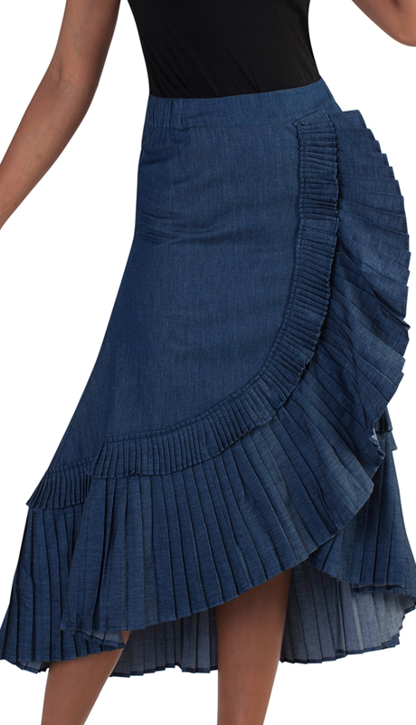 For Her Collection 8761-BD ( 1pc Asymmetric Cacade Ruffle Skirt )
