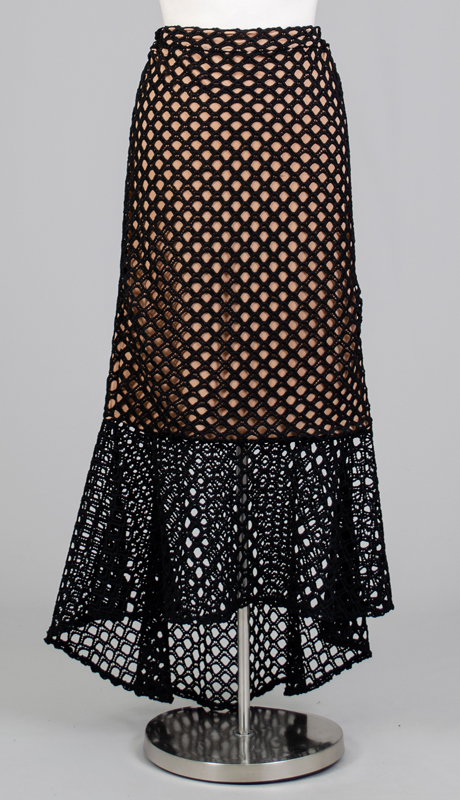 For Her Collection 8739-BN ( 1pc Net Overlay Two-Tone Flare Skirt )