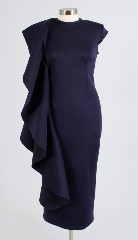 For Her Collection 8712-NA ( 1pc Cascade Ruffle Dress )
