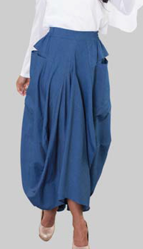 For Her Collection 8642-LD ( 1pc Denim Skirt )