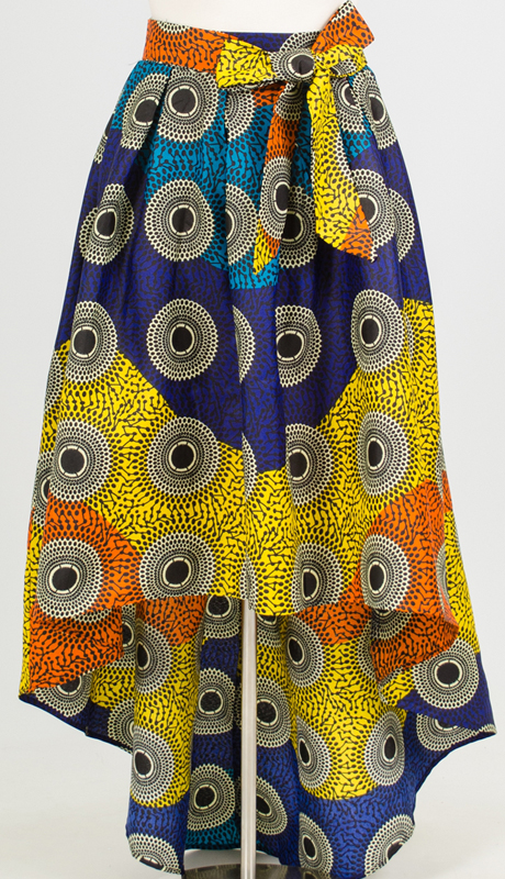 For Her Collection 8641-BM ( 1pc Print High Low Skirt )
