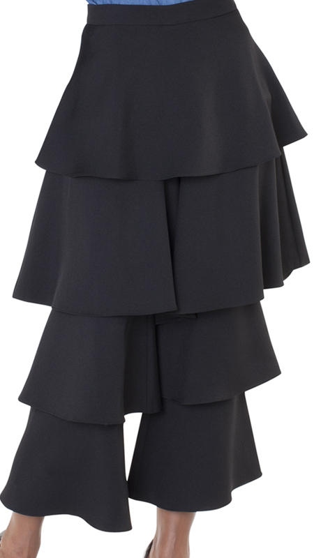 For Her Collection 8638-BK ( 1pc Ruffle Tier Pant )