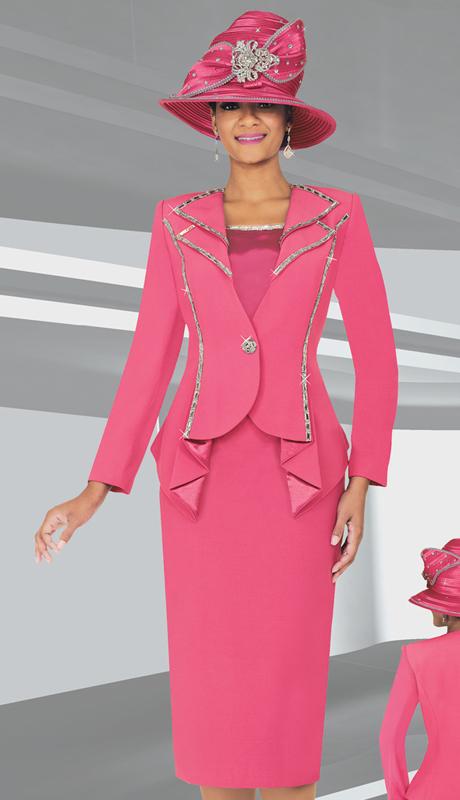 BM47707  ( 3pc PeachSkin Ben Marc Designer Sunday Suit )