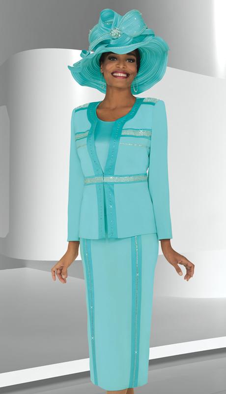 BM47708  ( 3pc PeachSkin Ben Marc Designer Sunday Suit )
