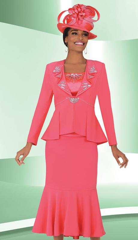 BM47711  ( 3pc PeachSkin Ben Marc Designer Sunday Suit )