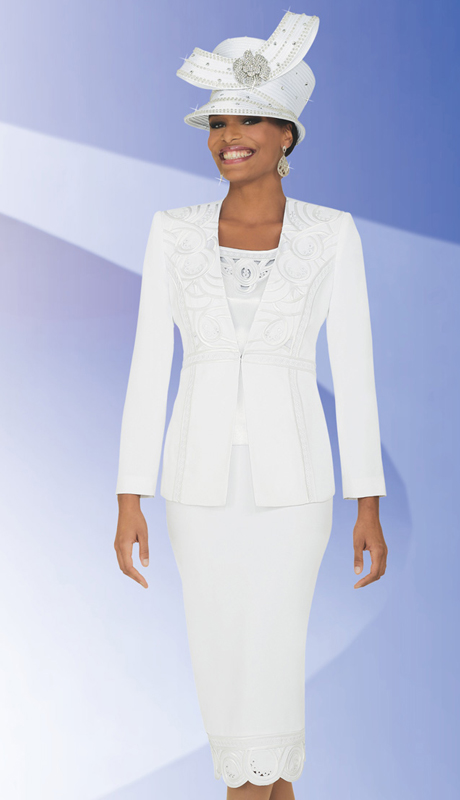 BM47751  ( 3pc PeachSkin Ben Marc Designer Sunday Suit )
