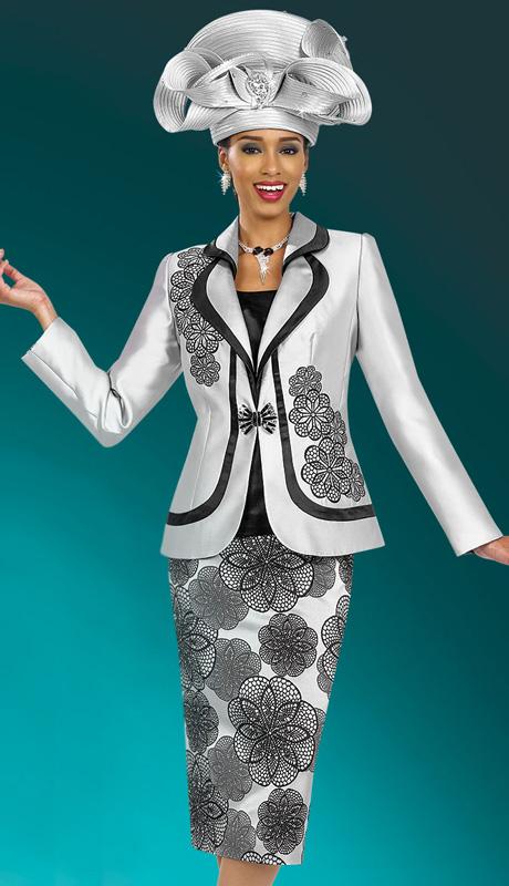 BM47975 ( 3pc Silk Ben Marc Designer Sunday Suit )