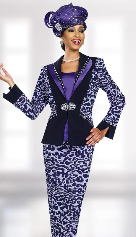 BM47972 ( 3pc Novelty Ben Marc Designer Sunday Suit )