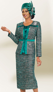 BM47986 ( 3pc Jacquard Ben Marc Designer Sunday Suit )