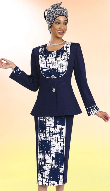 BM47987 ( 2pc Novelty Ben Marc Designer Sunday Suit )