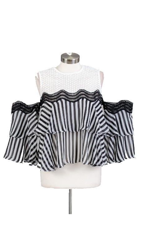 FT Inc T0067 ( 1pc Stripe Top )