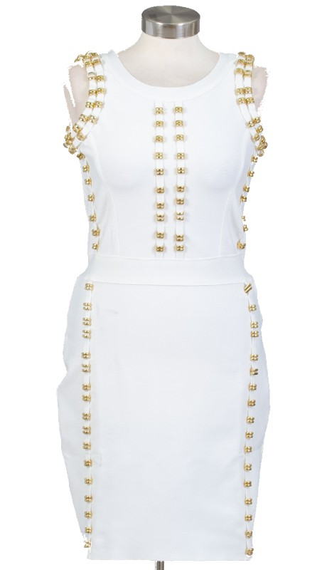 FT Inc RF012 ( 1pc Gold Stud Dress )