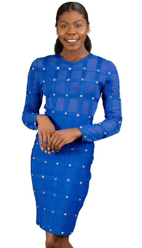 FT Inc RF014 ( 1pc Dress Stud Sheer L/s )