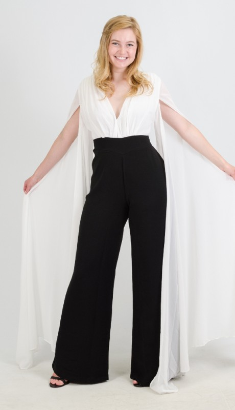 FT Inc CH1712 ( 2pc 2 Tone Jumpsuit )