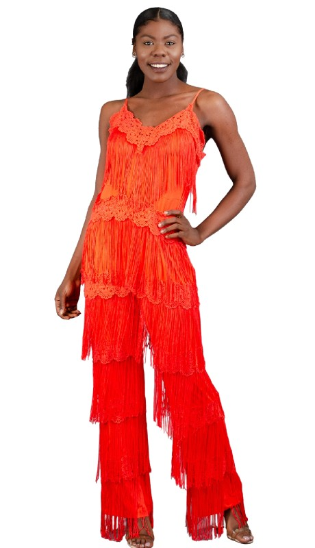 FT Inc CH18009 ( 2pc Jumpsuit Fringe )