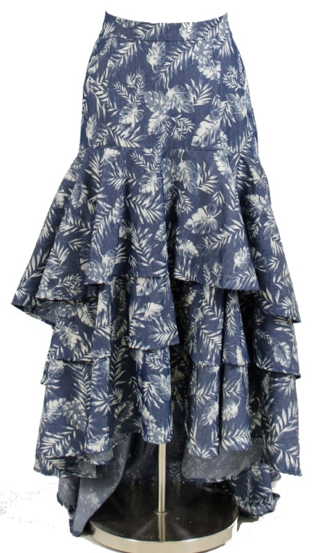 FT Inc CH18014 ( 1pc Skirt Leaf Print )