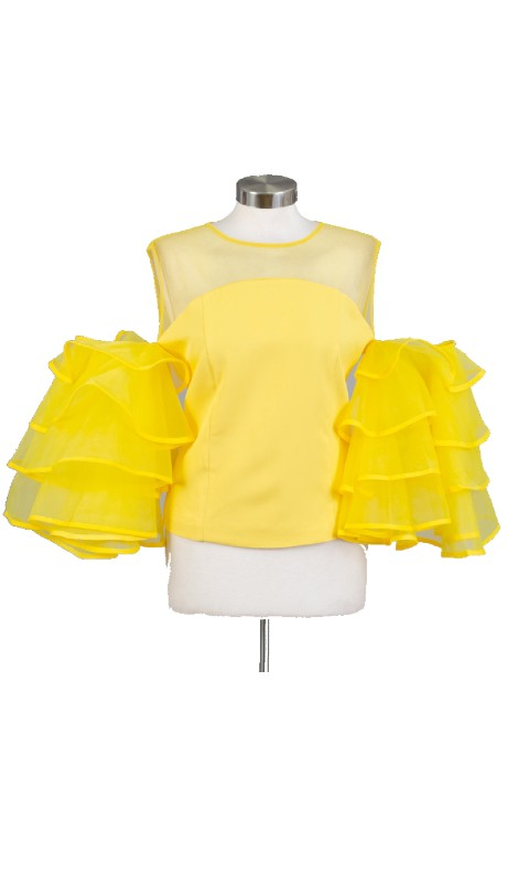 FT Inc CH9359 ( 1pc Ruffle Tier Slv )