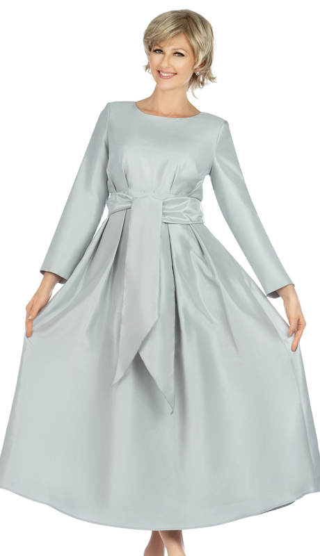 Giovanna D1508-SI ( 1pc Shantung A-Line Womens Church Dress With Matching Sash )