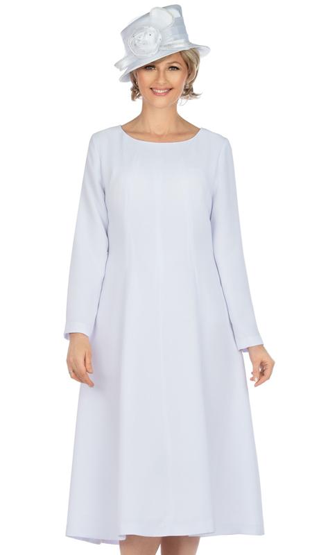 Giovanna D1451-WH ( 1pc Silk Look Women Dress For Church )