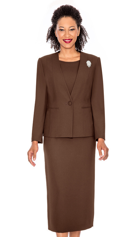 Giovanna 0825-CH  ( 3pc Peachskin Womens Suit With Jacket, Cami And Skirt )