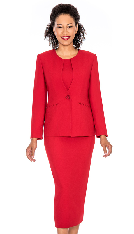 Giovanna S0301-RE ( 3pc Womens Sunday Suit )
