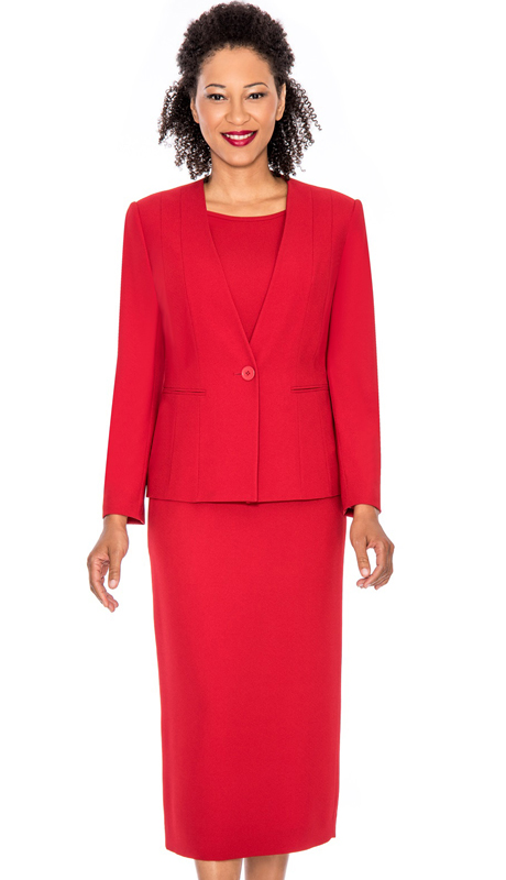 Giovanna S0711-RE ( 3pc Womens Church Suit )