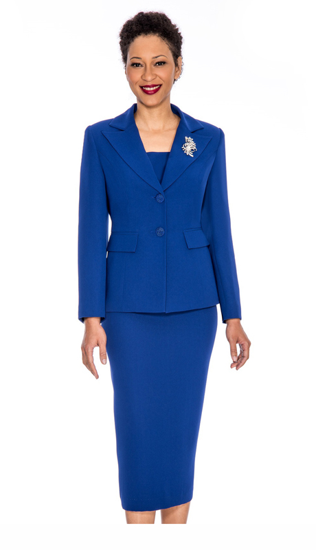 Giovanna 0710-RO ( 2pc Womens Suit With Two Button Closure Jacket And Skirt )