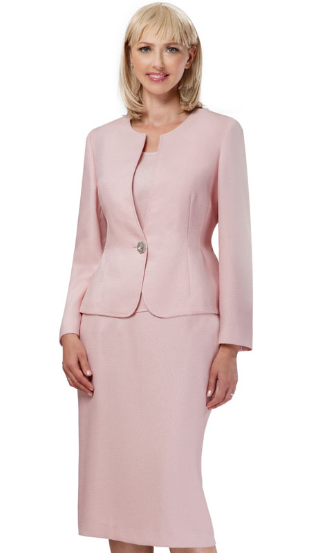 Giovanna S0713-PI ( 3pc Womens Novelty Church Suit With Rhinestone Button )
