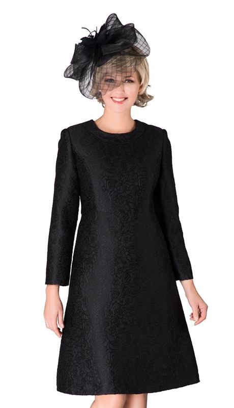 Giovanna D1521-BK ( 1pc Jacquard Dress )