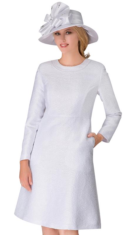 Giovanna D1521-WH ( 1pc Jacquard Dress )