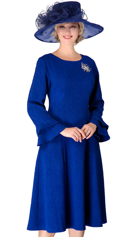 Giovanna D1523-RO ( 1pc Tiered Bell Sleeve A-Line Novelty Dress With Brooch )