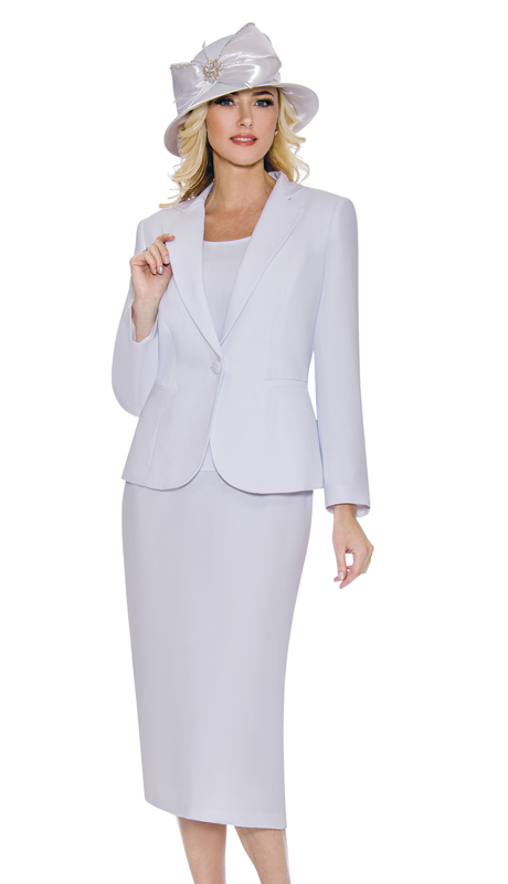 Giovanna 0707-W ( 3pc PeachSkin Womens Suit With Jacket, Cami And Skirt )