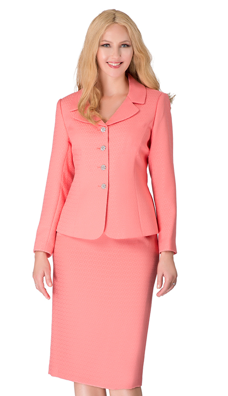 Giovanna S0720-CO ( 2pc Novelty Notched Lapel Skirt Suit With Jeweled Buttons )