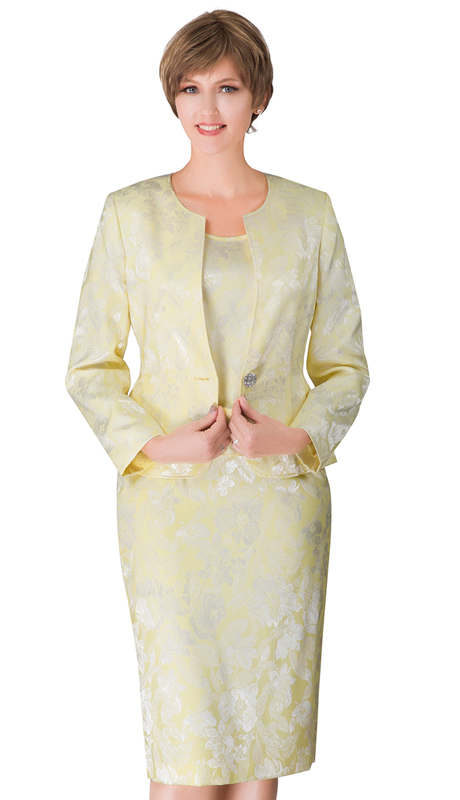 Giovanna S0713-BA ( 3pc Womens Novelty Church Suit With Rhinestone Button )