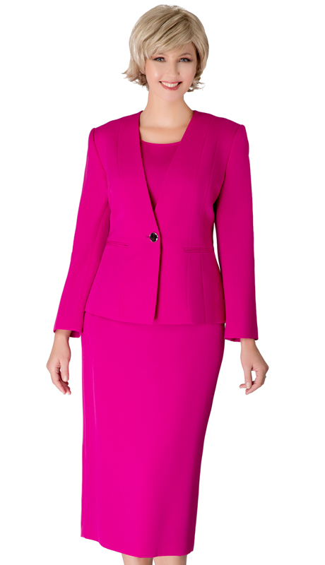 Giovanna S0722-AM ( 3pc Renova First Lady Suit With One Button Collarless Jacket )
