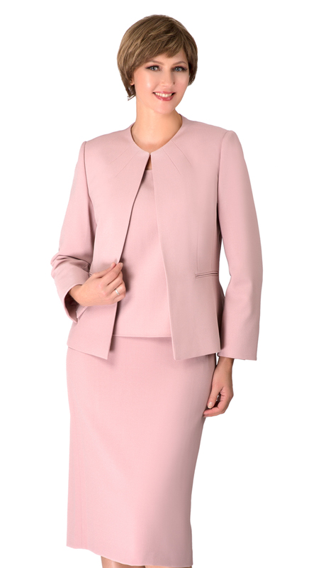 Giovanna S0721-MA ( 3pc Renova Ladies Suit For Church With Collarless Jacket )