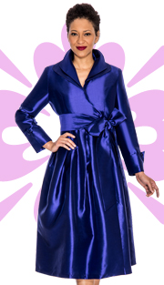 Giovanna 1435-PUR  ( 1pc Shantung  Women Dress Fully Lined )
