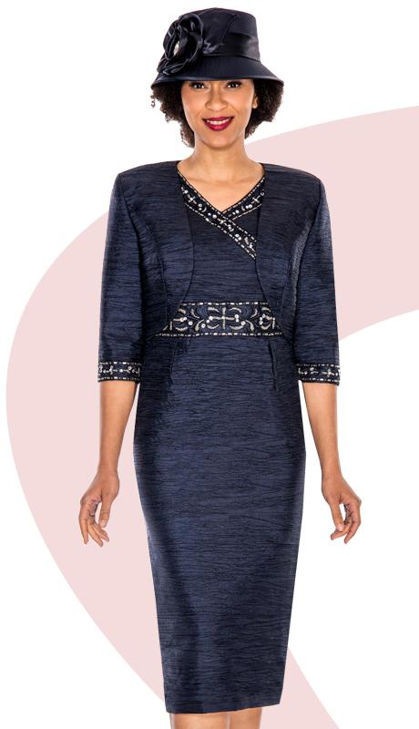 Giovanna 1423-NA ( 2pc Taffeta Jacket With Sleeveless Dress, Bead And Rhinestone Embellishments )