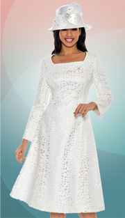 Giovanna 1462-IV-227 ( 1pc Laser Cut Brocade Ladies Church Dress )