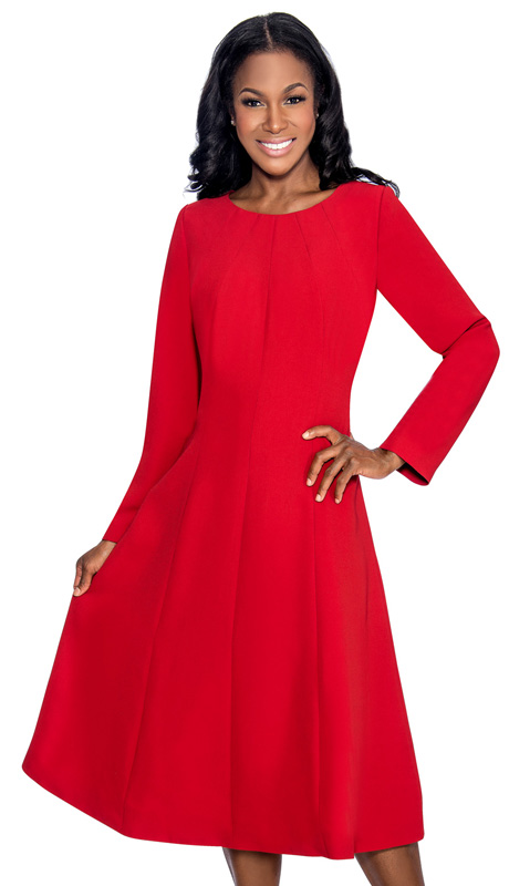 Giovanna 1451-CRA  ( 1pc MicroFiber Women Sunday Dress For Church )