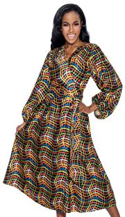 Giovanna D1337-312 ( 1pc Novelty Ladies Dress In Unique Swirl Pattern Design )