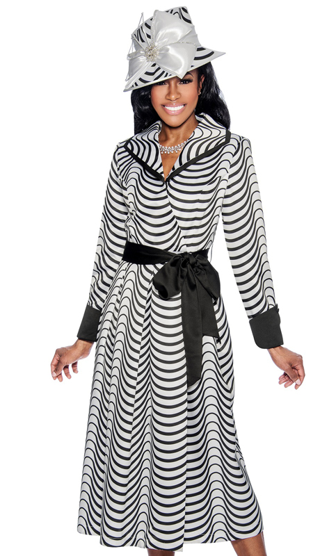 30e4c1e0eec Giovanna D1336-312 ( 1pc Novelty Church Dress In Two Tone Pattern With  Solid Cuffs
