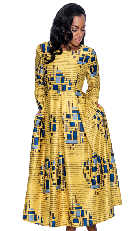 Giovanna D1339-CO ( 1pc Novelty Dress For Sunday In Unique Pattern Print )